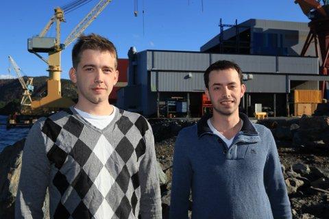 Remb Technologies - her representert ved Robin Madsen (t.v.) og Erlend Bjerck kan får Grunderprisen Sogn og fjordane 2016.