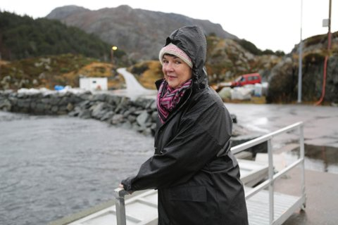Anne-Lene Normann: Har planar om nytt tomtefelt på øya Skorpa, men treng ferjelem for å få realisert utbygginga. Foto: Svend Arne Vee