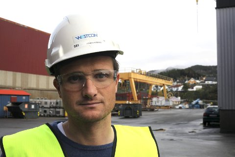 Ein nedtur: Westcon Yards Florø kom til eit punkt der permitteringar var uunngåeleg, seier direktør Mikael Johansen. Foto: Dag Frøyen