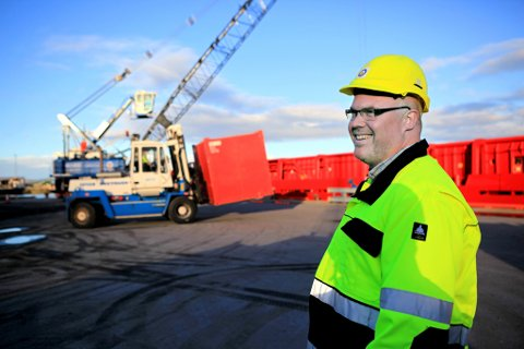 Adm. direktør Leif Stavøstrand i Saga Fjordbase.