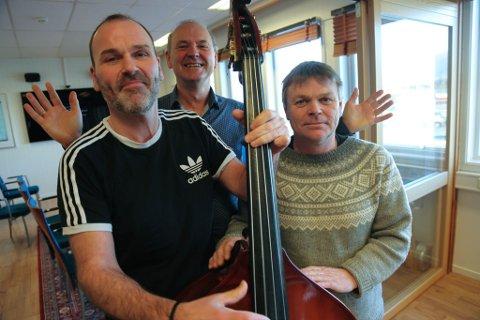 Tor Hjalte, Per Vidar Ottesen og Geir Høyvik (f.v.) lovar irsk musikk også til årets Himmel og Hav-festival.