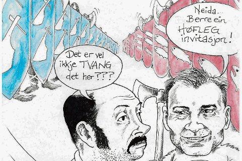 Ordførar Ola Teigen og Venstre sin Jan Arve Midtbø.