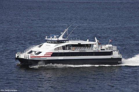 INNSTILT: Den sørgåande ekspressen frå Selje til Bergen er i dag innstilt på grunn av vêret.