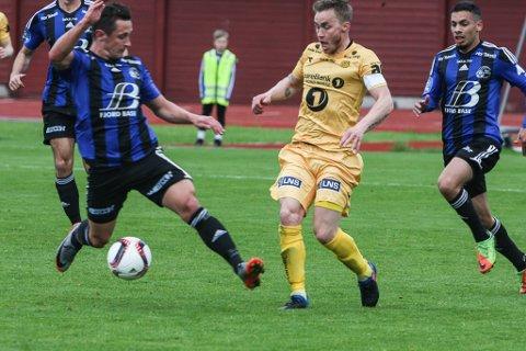 BERRE EIN TUR TIL NORD: Med Bodø/Glimt opp i eliteserien slepp Florø Fotball unna med berre ein tur til Nord Norge, når dei skal til Tromsdalen i 2018 sesongen.