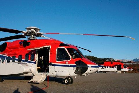 Ny aktivitet: Frå 1. mai må CHC Helicopter Service sleppe Bristow til på transporten av nordsjøarbeiderar. Men frå september av tek dei over drifta av redningshelikopteret i Florø for ein periode på tre år og tre månader, med opsjon på ytterlegare to år. arkivfoto