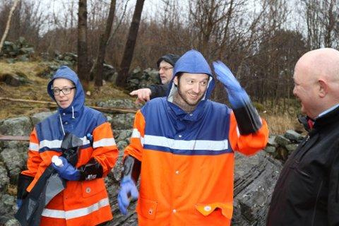 Kaja Standal Moen, miljørådgjevar i Flora kommune, Magne Igland, brannsjef, Martin Malkenes, MDG-politikar og Eivind Ask, varabrannsjef.