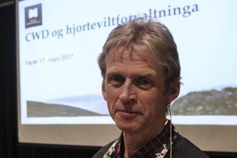 DÅRLEG NYTT: – Ein kan håpe, men det er naivt å tru at vi skal klare å halde hjorten CWD-fri i åra som kjem, seier Erik Lund.