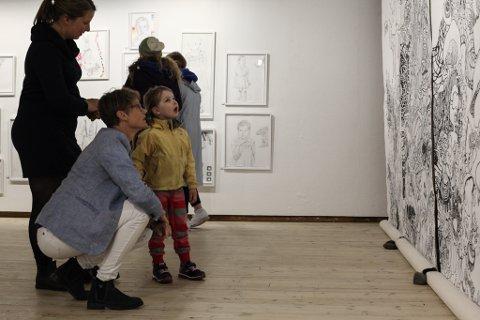 Her frå Kunst for kidz-utstillinga i 2017.