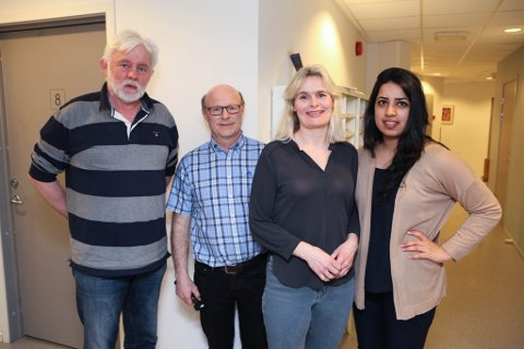 F.v.: Jan Helge Dale, Normund Svoen, Gry Elise Albrektsen og Jannat Sarwar.
