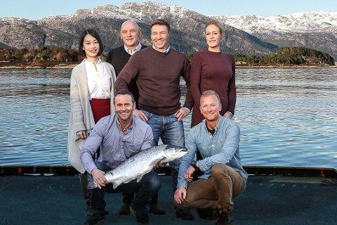 Bravo Seafood i 2017. Det gjekk bra i 2020 også. Bak f.v. Qiao Chen, Tore Svarstad, Karl Petter Myklebust, Anne Fure Bortne. Framme f.v. Håkon Åsvang og Svein Helge Bruheim.