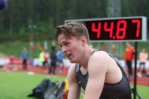 SUVEREN: Ny norsk rekord på 400 meter