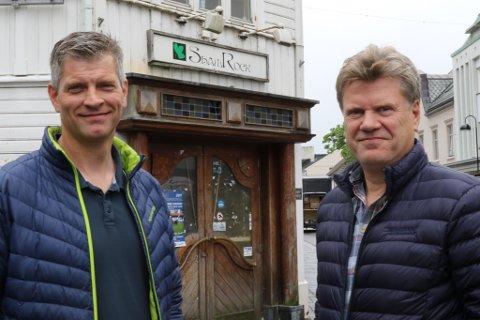 Frode Lundekvam i Byggteam AS og Per Stølsvik i Byggmester Stølsvik AS.