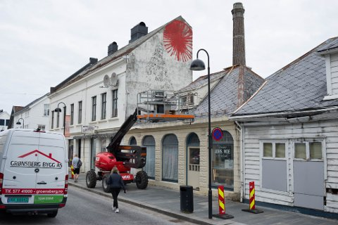 Ein ny «piece» av gatekunstnaren Nimi i Standgata dukka opp natt til 30.juni