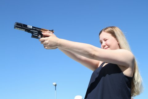 Elena Eikevoll Heltne, 15, tok 3. plass i NM i finfelt 15. juli