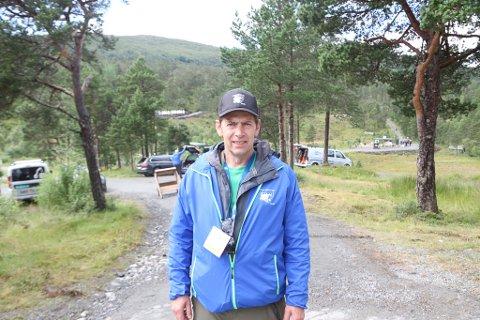PÅ PLASS: Bjarte Haugsnes har travle dager på LSS-arenaen ettersom han både er deltaker og har betydningsfulle oppgaver i forbindelse med avviklingen.