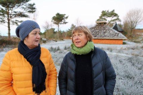 FRYKTAR KUTT: Leni Notø og Irene Hjorthol i styret til Sørstrand Folkepark fryktar budsjettkutt skal råke dei i 2019
