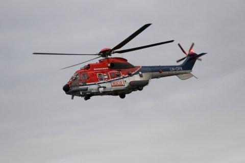 FLAUG UT TURGÅAR: Ein skade i ein fot hjå ein turgåar utløyste redningsaksjon i fjella ved Leikanger måndag kveld.