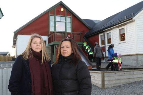 UROA: Tillitsvald Nina Faye Matre og verneombod Regina Gjørøy i Nyheimvegen barnehage håpar politikarane kan gjere om på vedtaket om å greie ut privat barnehage.