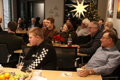 MYKJE FOLK: Mange møtte fram då Iglandsvik Næringspark inviterte til orienteringsmøte andre juledag.
