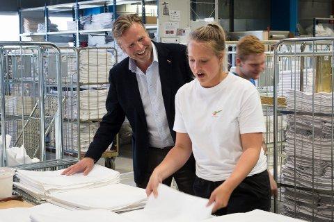 Leif Gunnar Belsvik, konsernsjef i Nor Tekstil AS