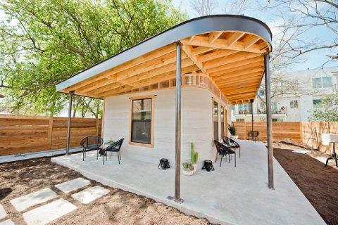 Det 3D-printa huset utanfor Austin, Texas.