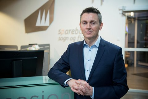 GODE TAL: Administrerande direktør for Sparebanken Sogn og Fjordane kan ikkje anna enn å vere nøgd med utviklinga i banken.
