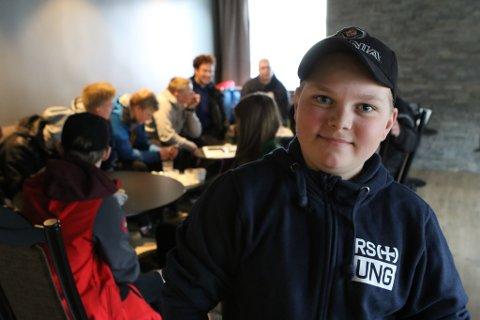 Sander Henden (15) frå RS UNG i Måløy