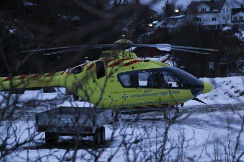 Ambulansehelikopteret rykte ut til Havhesten onsdag ettermiddag.