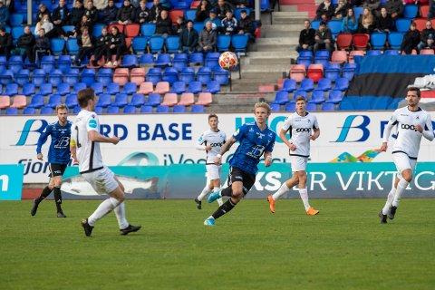 PÅ VEG VIDARE: Sebastian Pedersen var på utlån frå Strømsgodset til Florø i haust. No trenar han med HamKam.