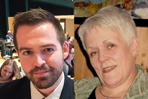 LURT: AP-politikar Torbjørn Vereide vart lurt trill rundt av Marie Madeleine Larsen (t.h.)