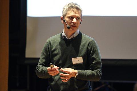I GANG: Det er framdrift på Nova-utbygginga, slo kommunikasjonssjef Kjetil Hjertvik i Wintershall Dea fast undre hans presentasjon under Vekst i Vest.