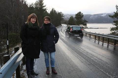 PARTIKOLLEGAER: Leiar for samferdsle og mobilitet i Vestland, Jannicke Clarke (Ap) og Bremanger-ordførar Anne Kristin Førde.