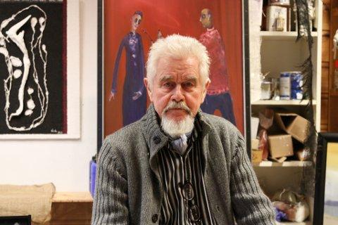 Åge Steinset har måla heile sitt liv - dei siste tjue åra på heiltid.