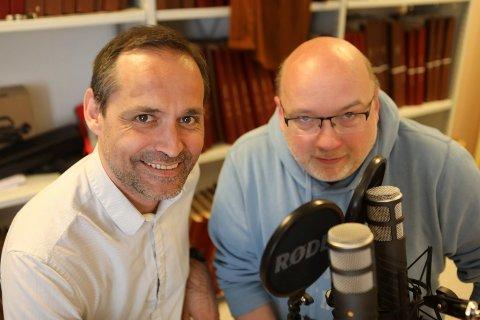 PODCAST: Dag Wollebæk i studio saman med vår podcastvert, Arne Hjorth Johansen.