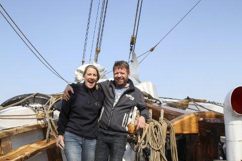 Herr og fru: Linda Kaldestad og Stein Arve Olsen møttest på Loyal, og 18. mai blir dei mann og kone når dei giftar seg i Stavang kyrkje.foto: liv standal