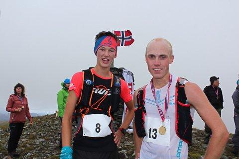 RASKE: Mannen til høgre, Andreas Skulstad, slo til med ny rekord Troda Opp. Trym Dalset Lødøen var ikkje langt bak!