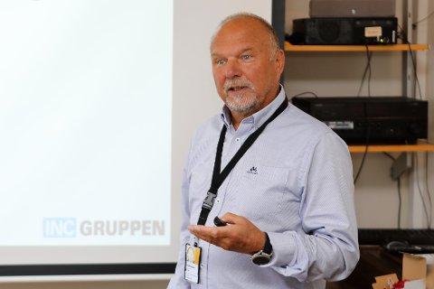 GODT SIGNAL: Konsernsjef Geir Johannessen i INC-gruppen liker signala frå Equinor. No har Equinor signert ein ny 15 års leigekontrakt med Fjord Base og utvider med 4000 kvadratmeter, lager, verkstad og kontor.