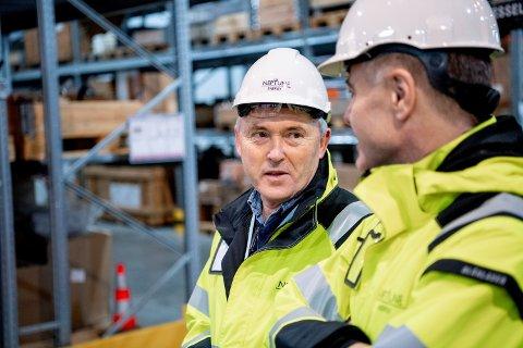 SUKSESS: Laurdag feira Gjøa-plattformen ti år. Basesjefen til operatøren Neptune Energy i Florø, Oddvar Aarberg kan trygt registrere at selskapet har levert.
