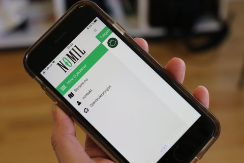 NOMIL: Nomil sine kundar i Kinn kommune kan no ta i bruk ein eigen mobilapp med tømmekalender, varsling og diverse informasjon.