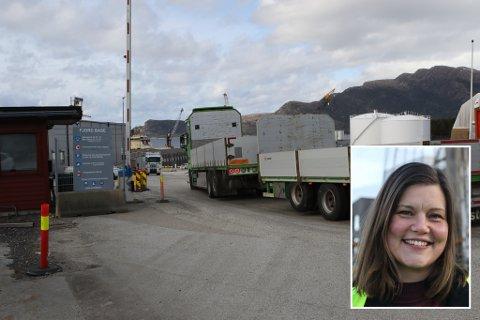 FJORD BASE: Det er framleis godt med aktivitet på Fjord Base, trass korona-situasjonen vi er oppe i. Vi var tidleg ute med restriksjonar og tiltak, presiserer Beate Grønnevik i INC Gruppen (innfelt).