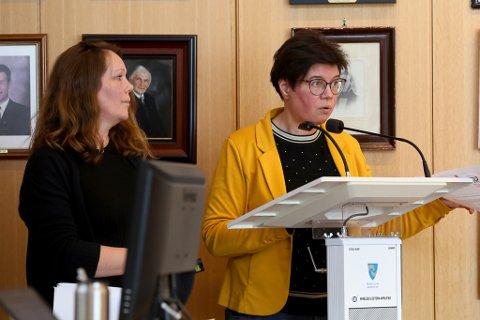 Prosjektgruppe for meir demensvennleg samfunn, Anne Karin Svarstad (t.h.) og Linda Førde.
