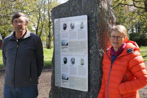 UNDERVISNING: Dei har laga undervisningsopplegg om Kystagentane. T.v. Terje Folkestad og t.h. Anita Øygard.