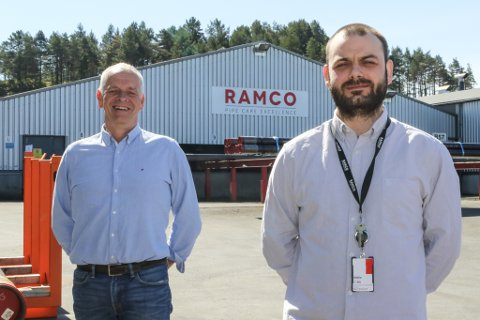 Administrerande direktør Arild Moe (t.v.). og Aleksander Rosnes som er leiar for florøavdelinga av Ramco.
