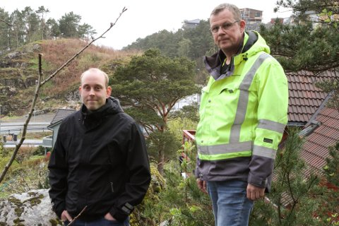 Teknisk sjef Frode Ellingsund og Sigmund Solheim, avd.leiar veg/Florø, Kinn kommune