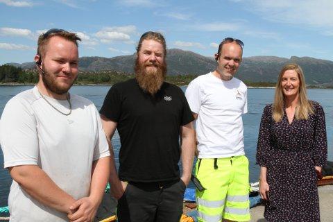 Thomas Buarøy, Kim Andre Øybost, Jan Tore Aldeholm og Heidi Nordal hos K. Jansen ser fram til at Hurtigruta er tilbake i neste veke, sjølv om det blir med redusert program inntil vidare.