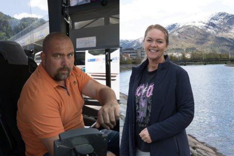 SAMARBEID: Andre Monsen, turleiar i Firda Billag, og Anne Oline F. Gullaksen i Fjordane reisebyrå samarbeider om eit nytt ferietilbod.