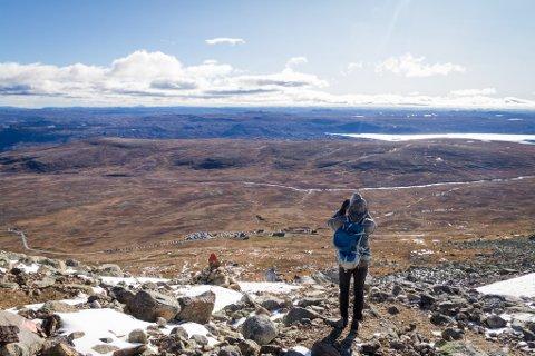 HAUSTFERIE: Det ligg an til norgesferie i haustferien, som her ved Prestholtskarvet som er er ein topp på den søraustlege delen av Hallingskarvet,