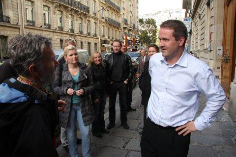 Johan Kvalheim, fiskeriutsending i Eksportutvalet for fisk, tok mot Firdaposten på tur  i Paris i 2012.