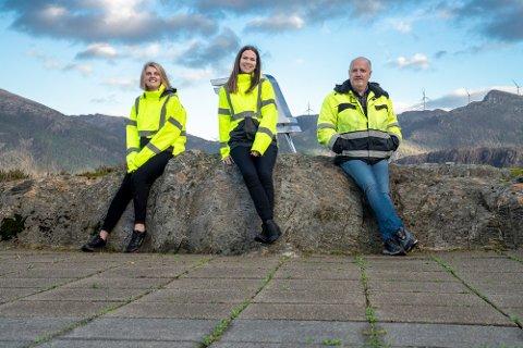 Hydrogenteamet i INC; (f.v.) Helene Aamodt, Marita Jarstad og Svein Arne Bjørkedal.