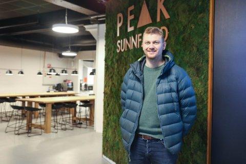 NY ETABLERING: Peak-sjef Pål anders Kårstad er i ferd med å byggje opp nok ei Peak-avdeling i fylket.